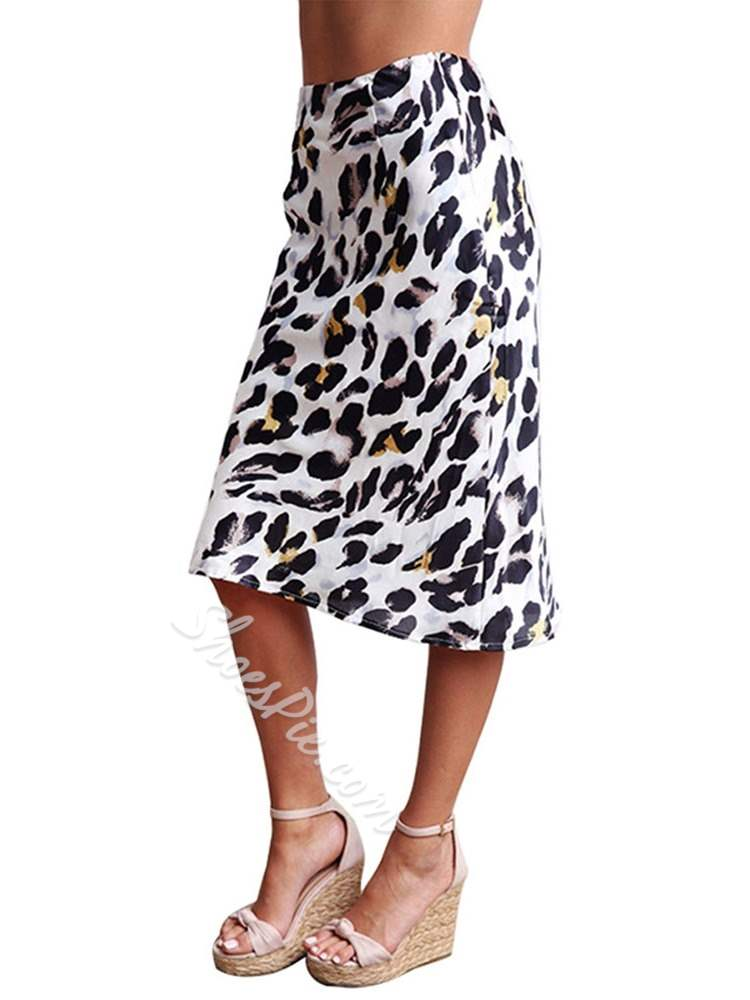 Print Mid-Calf Bodycon Fashion Women's Skirt