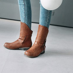 Shoespie Casual Fashion Appliques Ankle Boots