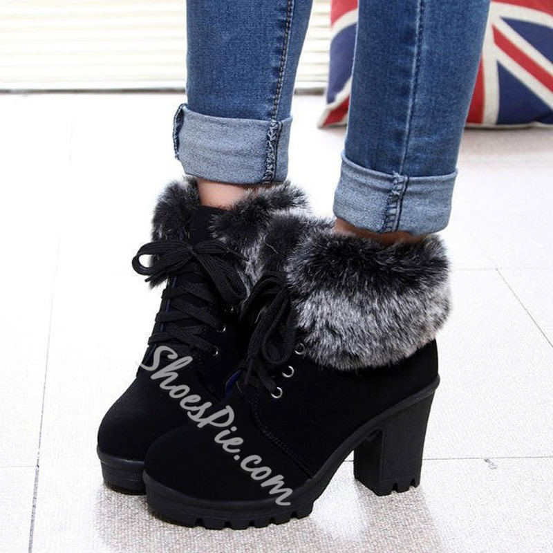 Shoespie Platform Cute High Heel Ankle Boots