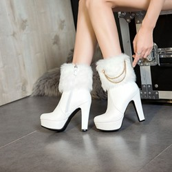 Shoespie Chain Platform Fashion Ankle Boots