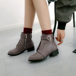 Shoespie Fashion Buckle Casual Ankle Boots