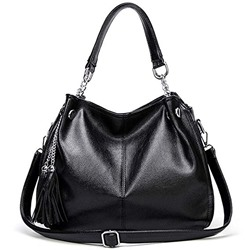 Shoespie Plain Tassel Zipper Women Handbag