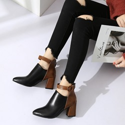 Shoespie Casual Buckle Ankle Boots