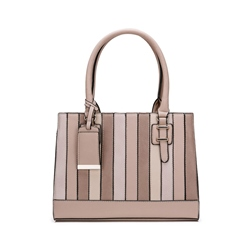 Shoespie Stripe Patchwork Zipper Women Handbag