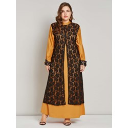 Polyester Floral Muslim Lace Women's Maxi Dress