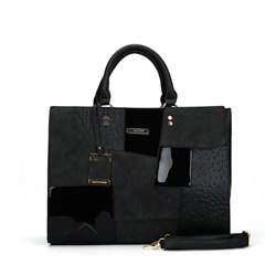 Shoespie Casual Color Block Patchwork Handbag