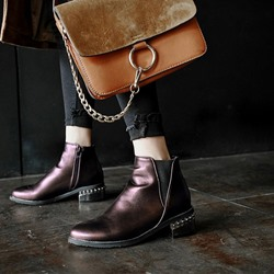 Shoespie PU Casual Stylish Ankle Boots