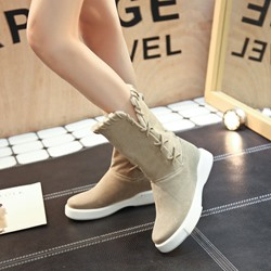 Shoespie Slip-On Platform Fashion Ankle Boots