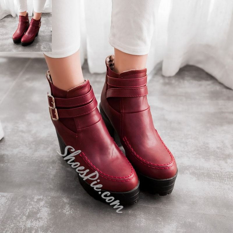 Shoespie Platform Fashion High Heel Ankle Boots