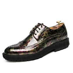 Round Toe Professional PU Lace-Up Men's Oxfords