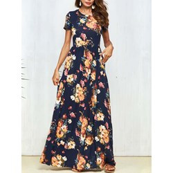 Shoespie Expansion Floral Womens Maxi Dress