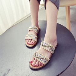 Rhinestone Slip-On Bohemia Sexy Sandals