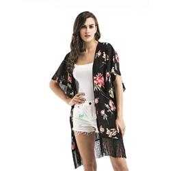 Thin Floral Western Summer Women's Cape