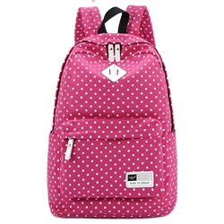 Fashion Canvas Print Zipper Women Backpack