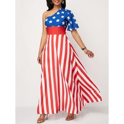 Shoespie Stripe Star Women's Maxi Dress