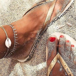 Shell Tassel Shape Beach Anklets
