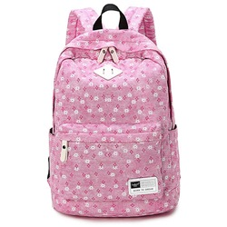 Shoespie Canvas Floral Zipper Women Backpack