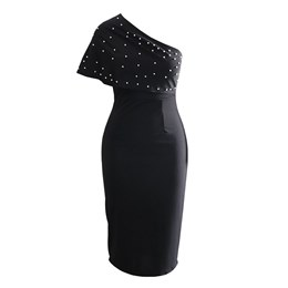 Shoespie Plain Bead Women's Bodycon Dress