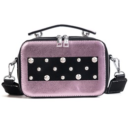 Shoespie Rivet Color Block Women Handbag