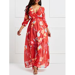 Shoespie Floral Print Women's Maxi Dress
