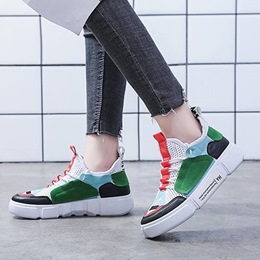 Color Block Lace-Up Low Upper Women's Sneakers