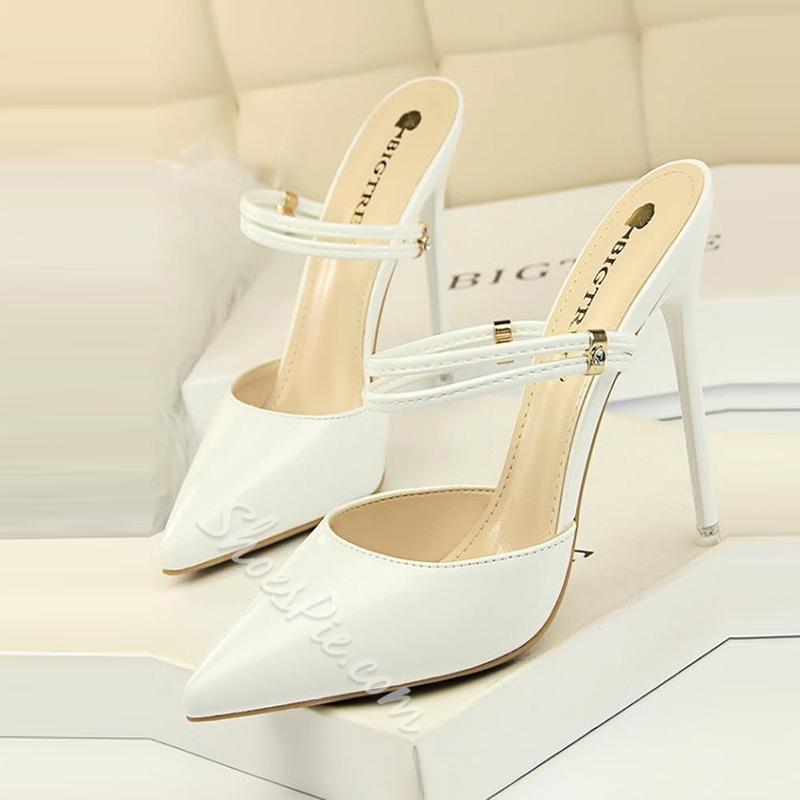 Shoespie Closed Toe Ankle Strap Stiletto High Heels