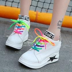 Shoespie Hidden Elevator Heel Wedge Sneakers