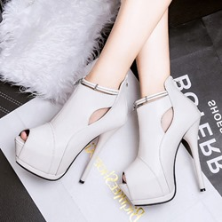 Shoespie Stylish Peep Toe Platform Stiletto Heel Ankle Boots