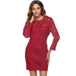 Shoespie Hollow Elegant Fall Women's Bodycon Dress
