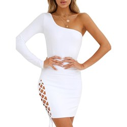 Shoespie Asymmetric Hollow Women's Bodycon Dress