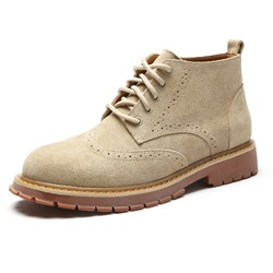 Shoespie Mid-Calf Khaki Thread Men's Boots