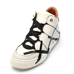 Shoespie Print Lace-Up Cool Men's Sneakers