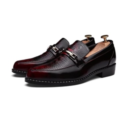 Shoespie Casual Alligator Pattern Brush Off Men's Oxfords