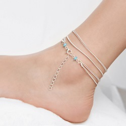 Ethnic Style Multi-Layer Chain Anklets
