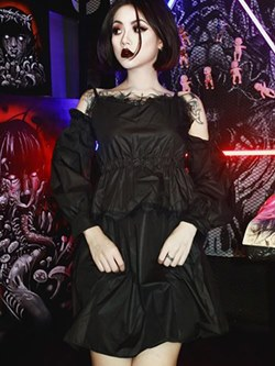Gothic Style Fall Women's A-Line Dress