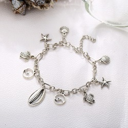 Star Shell Pendant E-Plating Alloy Anklets