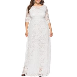 Floor-Length Elegant Hollow Women's Maxi Dress