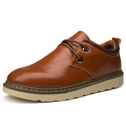 Shoespie Lace-Up Plain Professional Men's Boots