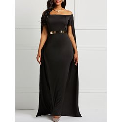 Backless Strapless Plain Women's Maxi Dress