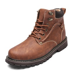 Shoespie Plain Lace-Up Men's Boots