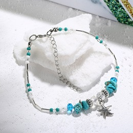 Turquoise Star Pendant Beads Anklets