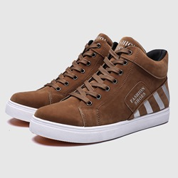 Shoespie Casual Lace-Up Round Toe Men's Sneakers