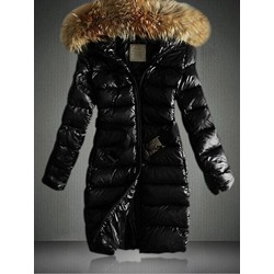 Zipper Slim Mid-Length Women's Cotton Padded Jacket