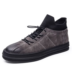 Shoespie Elastic Band High-Cut Men's Sneakers