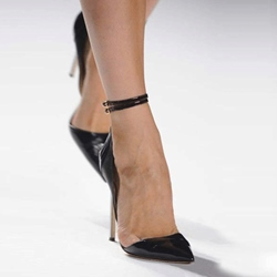 Shoespie Sexy Black Ankle Wrap Stiletto Heels