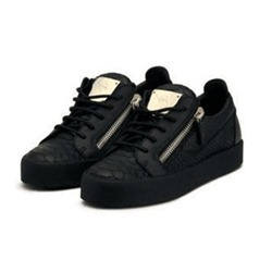 Sequin Lace-Up Zipper Men's Sneakers