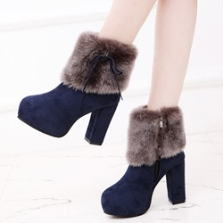 Fashion Platform Side Zipper Sexy Boots