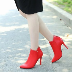 Casual Pointed Toe Stiletto Ankle Boots