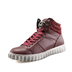 Casual High Upper Lace-Up Men's Sneakers