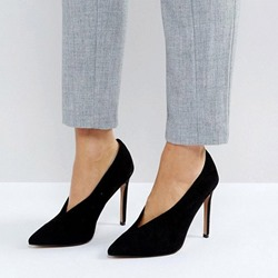 Shoespie Black Pointed Toe Classic Stiletto Heels